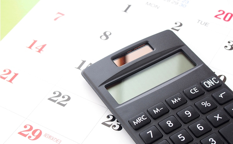カレンダーと電卓