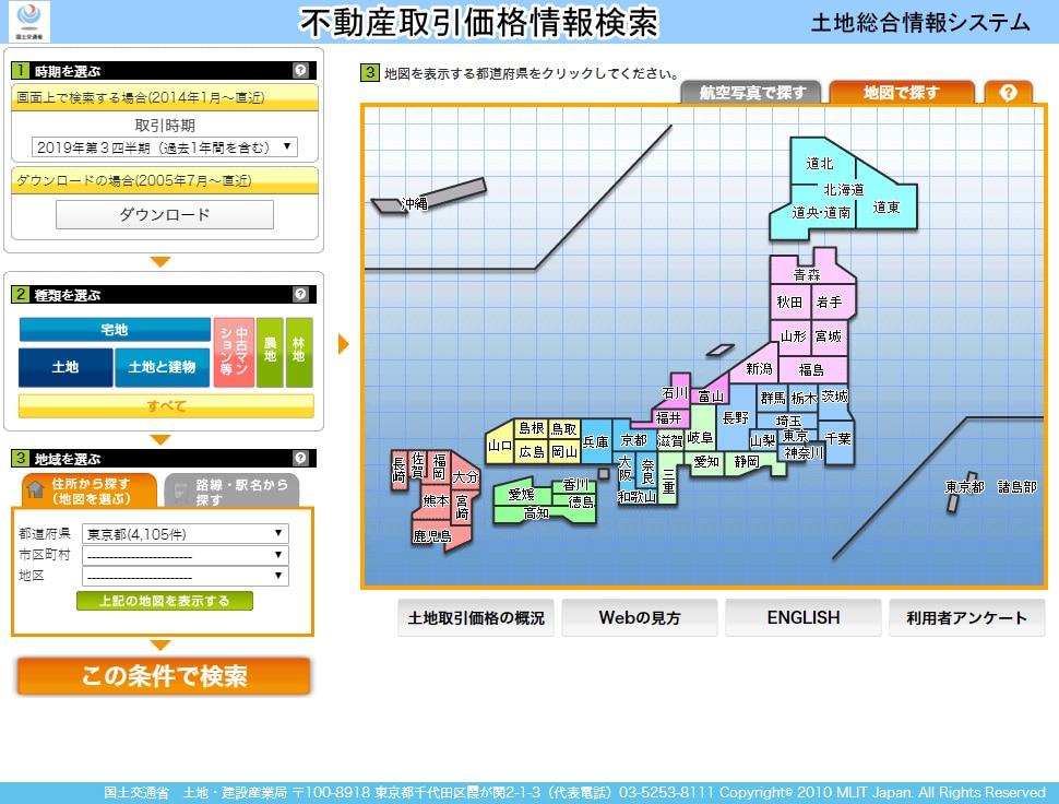 国土交通省 土地総合情報システム Land General Information System